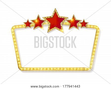 Retro Frame With Five Stars