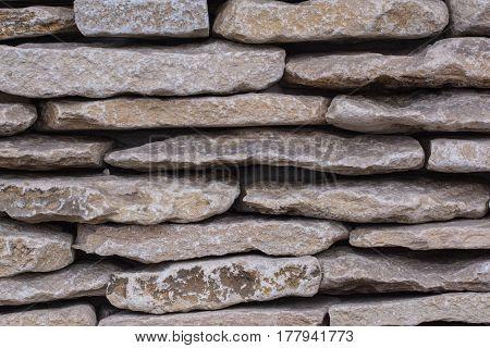 The texture of the masonry. Stone wall. big stones