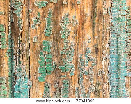 closeup of old blue wood planks texture background
