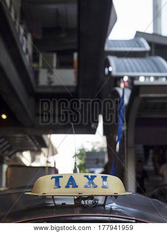 Taxi Cab At Silom