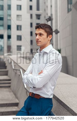Charming young male attorney possibly accountant banker executive business lawyer finance man.
