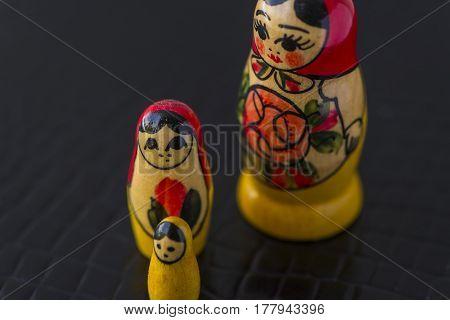 Russian Traditional Dolls Matrioshka - Matryoshka or Babushka, Sensitive Focus