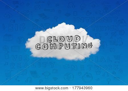 Cloud technology concept apart of technology concept in the future for wireless communication network for IoT(Internet of Things) the infrastructure of the information society