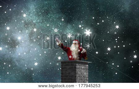 Santa Claus is already here . Mixed media . Mixed media
