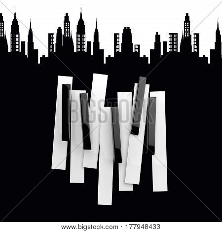 Jazz music festival, poster background template. Jazz poster