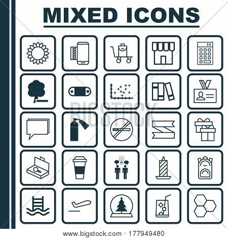 Set Of 25 Universal Editable Icons. Can Be Used For Web, Mobile And App Design. Includes Elements Such As Baggage On Conveyor, Investment, Fire Wax And More.