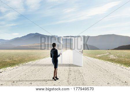 Open new doors and opportunities . Mixed media