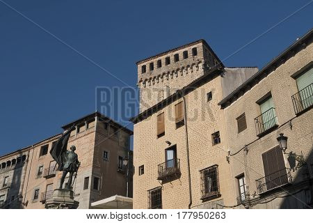 Segovia (Castilla y Leon Spain): the square of San Martin