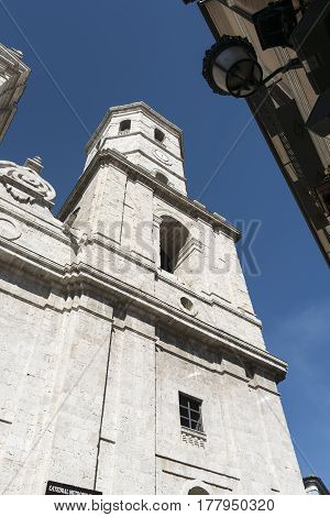 Valladolid (Castilla y Leon Spain): facade of the historic cathedral