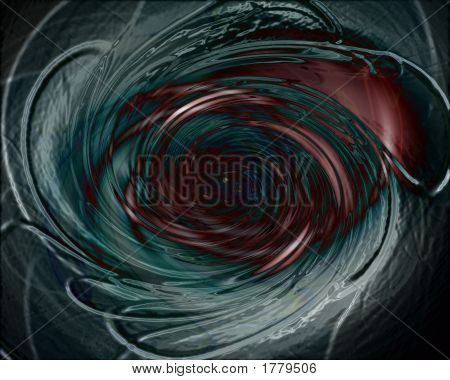 Dark, Evil Vortex In Deep Space - Digital Illustration