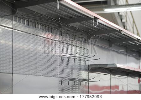 Lighting For Retail Shelving, Empty Store Shelves