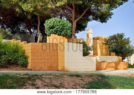 Entrance to Reina Sofia Park. Guardamar del Segura, Valencia, Spain