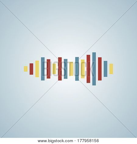 music equalizer icon - eps vector 10