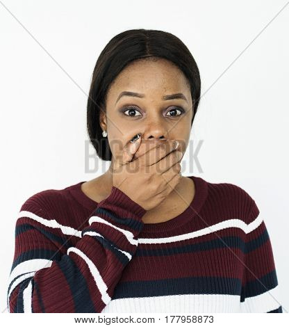 African Descent Woman Facial Emotion