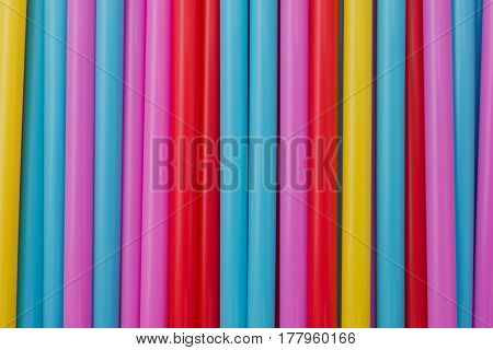 Abstract background tubes straws for drink. horizontal background