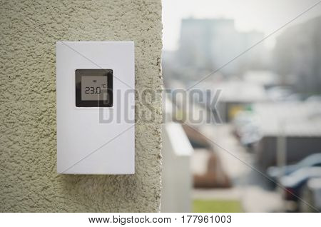 Wireless Weather Meter Installed Outdoor