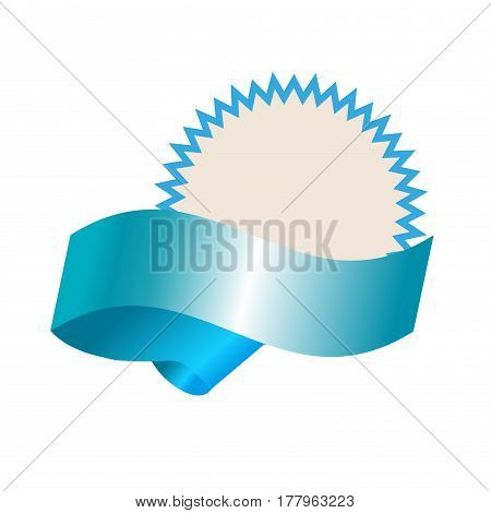Empty template with blue realistic banner vector art