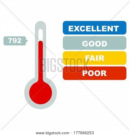 Credit score. business concept. On white background