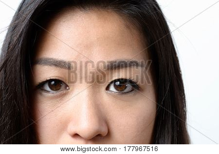Eyes Of A Young Asian Woman