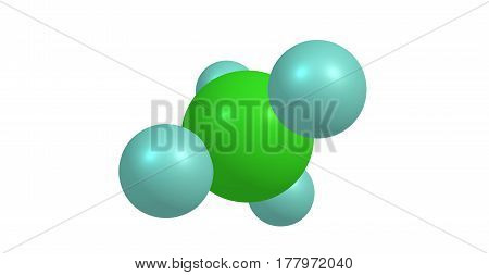 Germane is the chemical compound with the formula GeH4 and the germanium analogue of methane. It is the simplest germanium hydride and one of the most useful compounds of germanium. 3d illustration