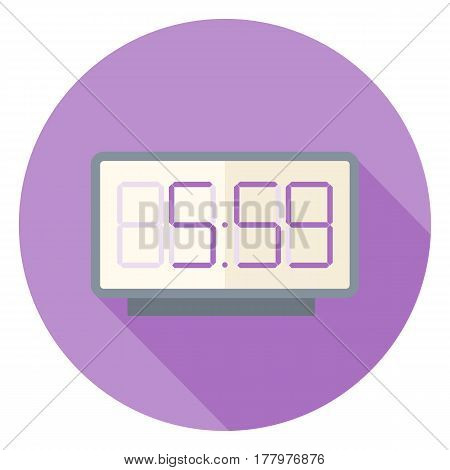 Digital clock flat design style icon EPS10