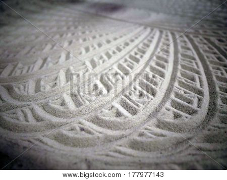 Pattern of sand drawing made by the machine
