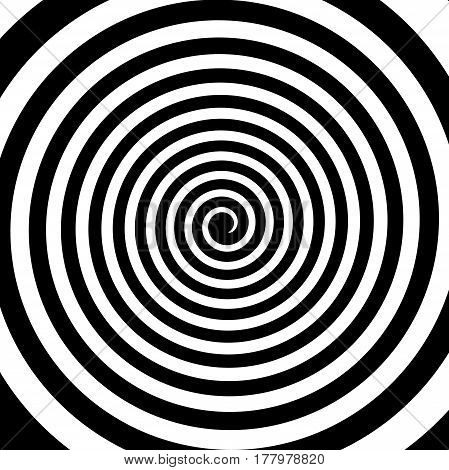 Black And White Hypnotic Spiral Vortex Hypnotic Psychedelic Experience.