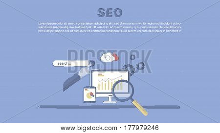 Website SEO optimization. Concept business vector for investing into ideas, creative innovative work, growing business. Flat illustration with thin broken line.