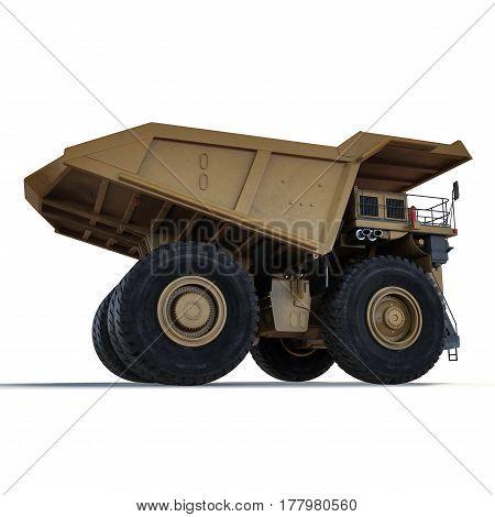 big truck on the white background. 3D illustration