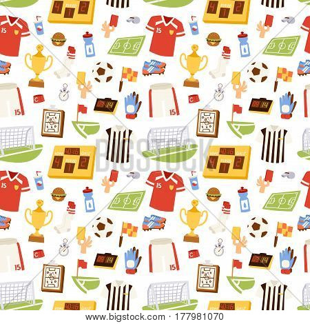 Soccer icons stadium and cloth vector illustration.