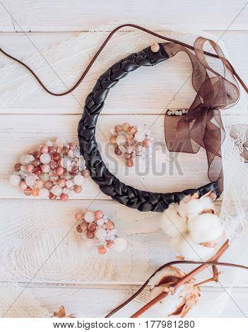 Beautiful elegant handmade jewelry from natural materials