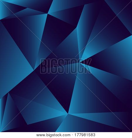 Navy Blue abstract polygon illustration vector background
