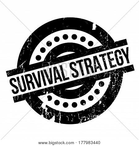 Survival Strategy rubber stamp. Grunge design with dust scratches. Effects can be easily removed for a clean, crisp look. Color is easily changed.