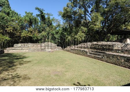The Mayan Ruins Of Las Sepulturas Near Copan