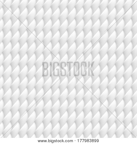 Seamless vector background of white fabric close-up.