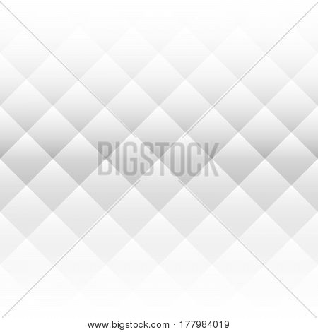 Abstract background of squares in diagonal arrangement. Two side horizontal gradient. Monochrome, black and white vector illustration.