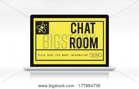 Chat Message Communication Connection Concept
