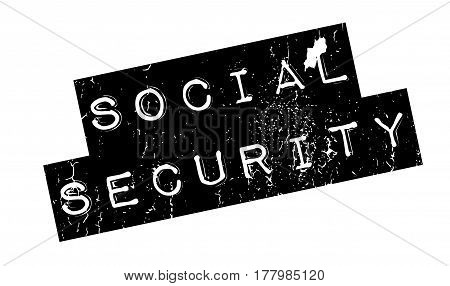 Social Security rubber stamp. Grunge design with dust scratches. Effects can be easily removed for a clean, crisp look. Color is easily changed.
