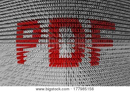 PDF a binary code background 3D illustration