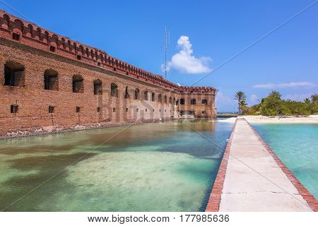 Dry Tortugas National Park is situated at the southwest corner of the Florida Keys reef system and is one of the United States' most remote national parks.
