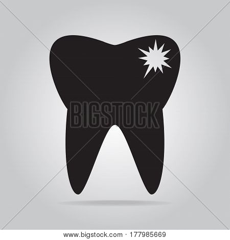 Tooth caries tooth decay icon medical sign