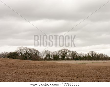 Some farmland earth about to be grown upon
