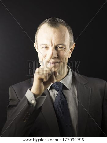 Businessman Presenting Speech