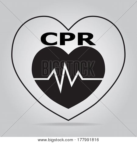 CPR Cardiopulmonary resuscitation icon. Medical sign icon