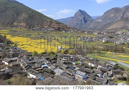 Shigu Village Near Lijiang, Aerial View. Shigu Is In Yunnan, China, And Was Part Of The South Silk R