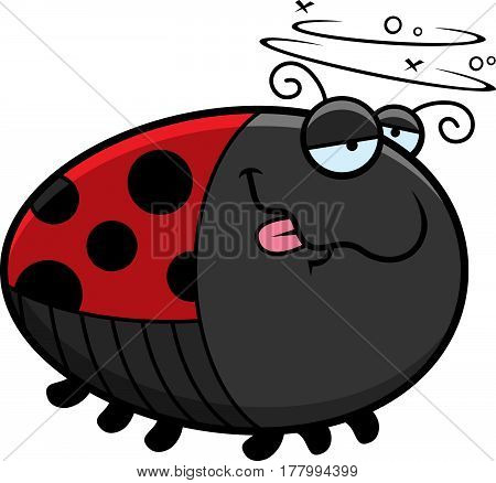 Cartoon Drunk Ladybug