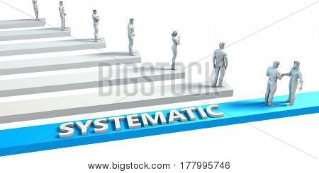 Systematic as a Skill for A Good Employee 3D Illustration Render