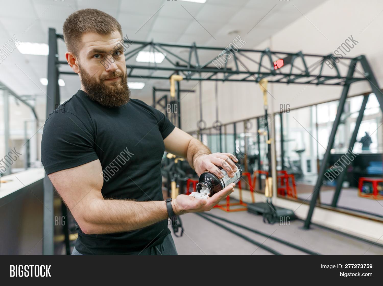 Sporty Muscular Man Image & Photo (Free Trial)   Bigstock