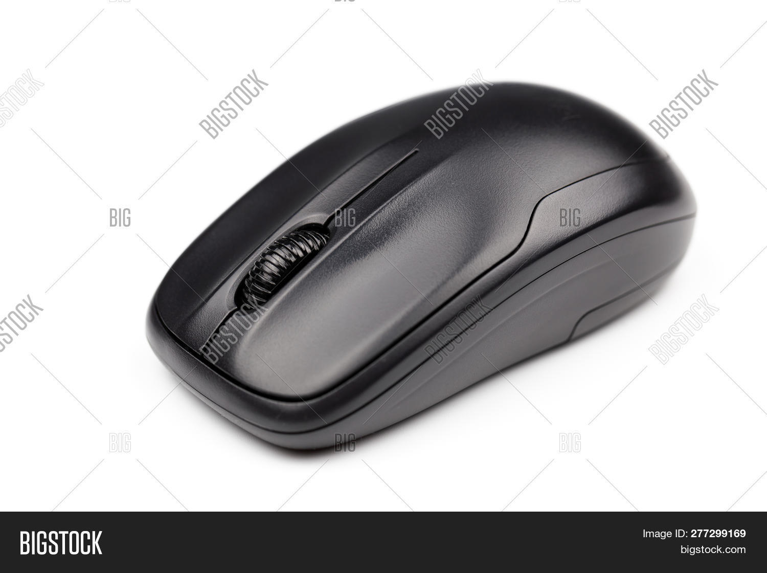 42f1b92b8b1 Computer Mouse Isolated On White Background. Computer Wireless Mouse. Black Computer  Wireless Mouse.