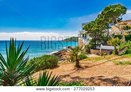 Beautiful Island Scenery, Coastline Of Sant Elm With Idyllic Sea View, Majorca Balearic Islands, Spa